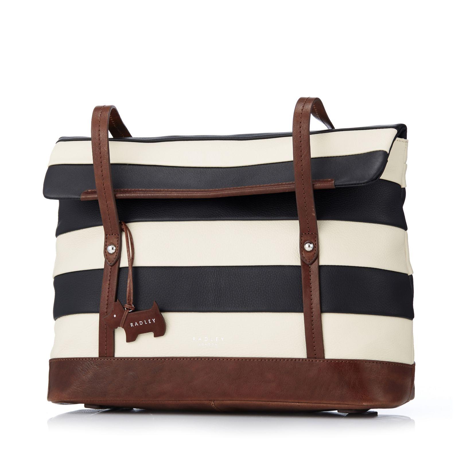 feb316d2b972 Radley London Babington Stripe Medium Shoulder Bag - QVC UK