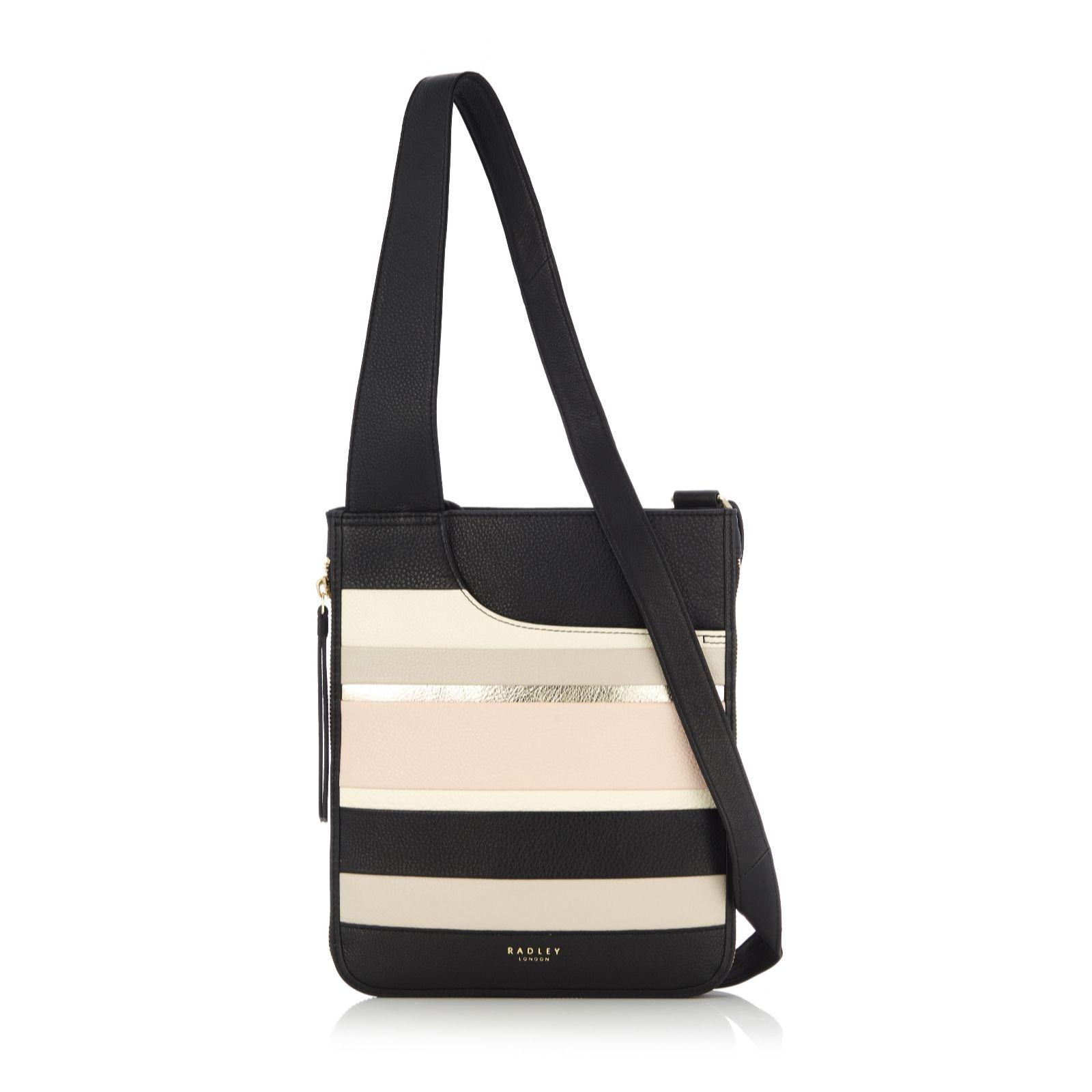 86a02cba02c7c Radley London Pockets Stripe Crossbody Bag - QVC UK