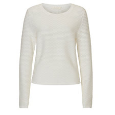 Betty & Co Cream Textured Knit Pullover