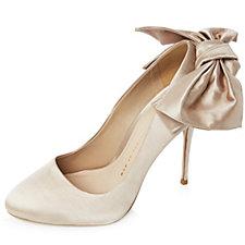 Bronx Satin Bow Round Toe Court Shoe