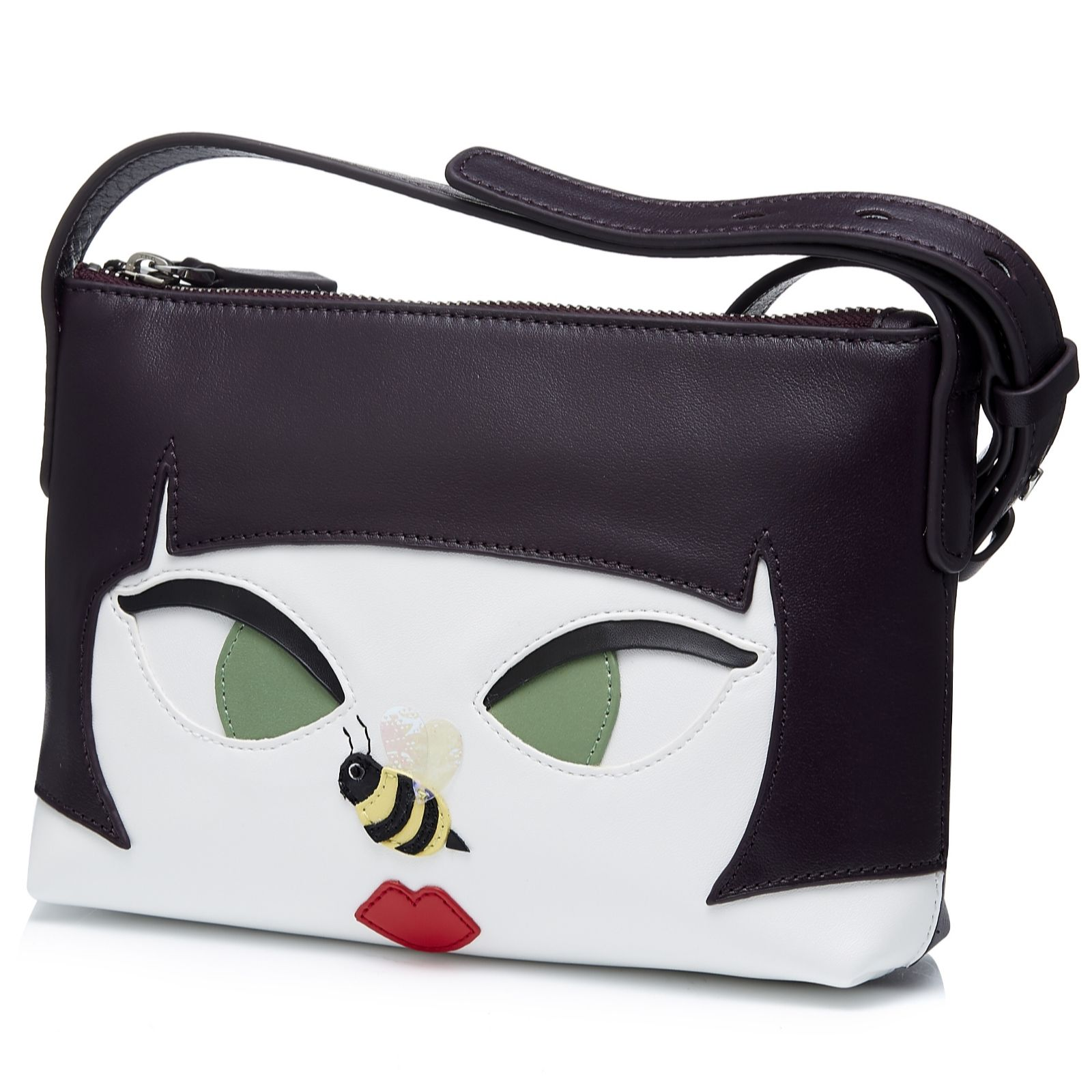 cac6af1746 Lulu Guinness Marie Bee Stung Girl Crossbody Bag - QVC UK
