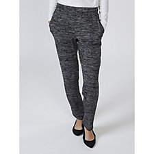 Space Dye Knit Trousers with Pockets by Nina Leonard