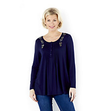 Together Tunic Top with Pintuck & Embroidery
