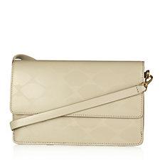 Lulu Guinness Faye Lip Print Polished Leather Handbag
