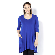 Join Clothes 3/4 Sleeve Tunic with Pocket Detail