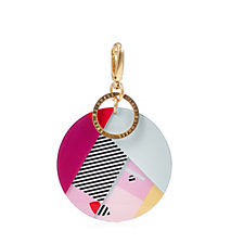 Lulu Guinness Anna Doll Face Perspex Keyring