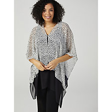 WynneLayers Convertible Spot Chiffon Poncho