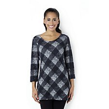 Attitudes by Renee Plaid Tunic with Pockets