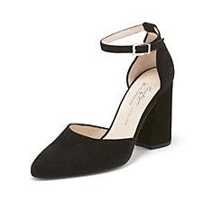 Peter Kaiser Caja Suede Convertable Tie Detail Heeled Court Shoe