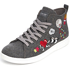 Skechers Omne Embroidered High Top Lace Up Trainer