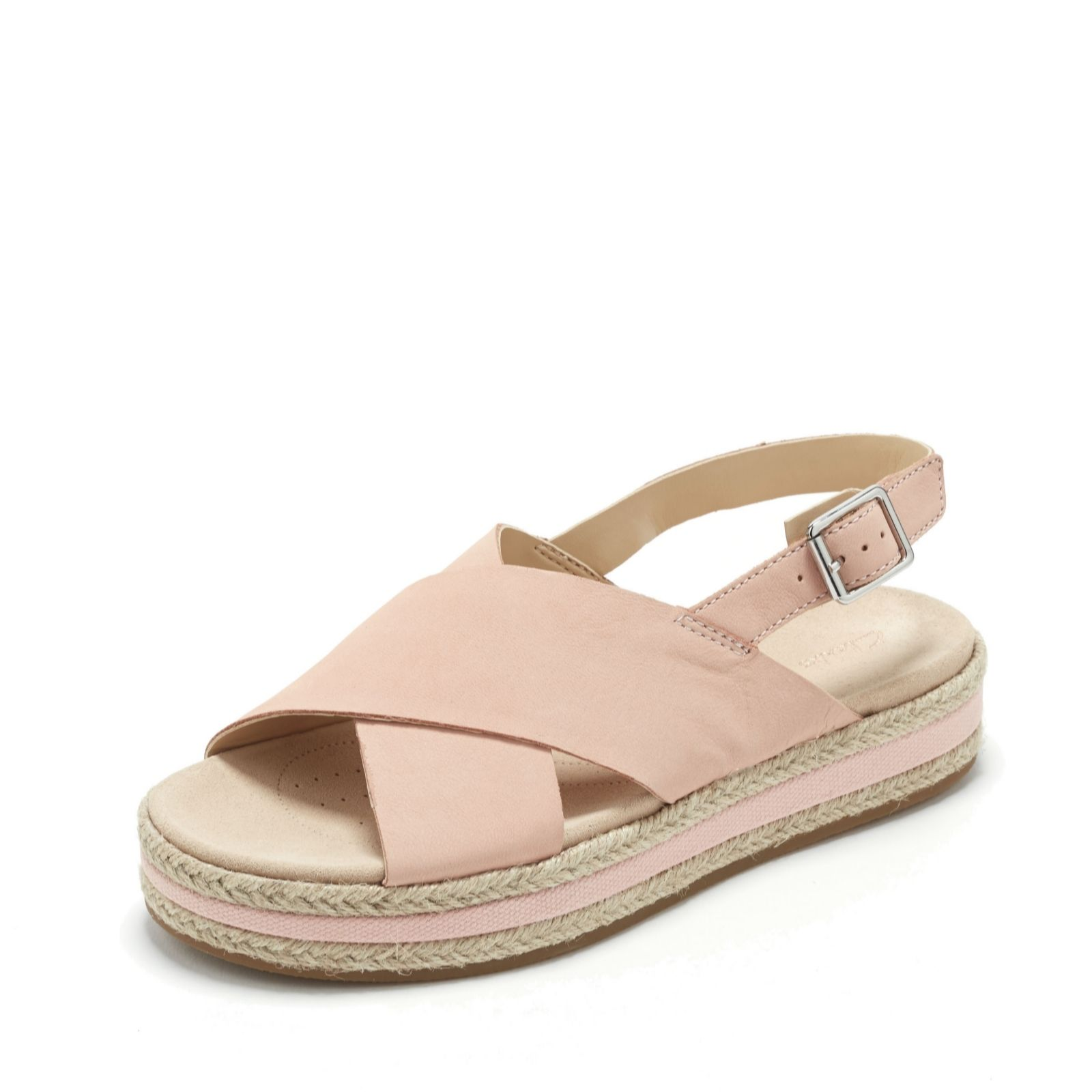 cf2dc721 Clarks Botanic Fay Cross Over Sandal Standard Fit - QVC UK