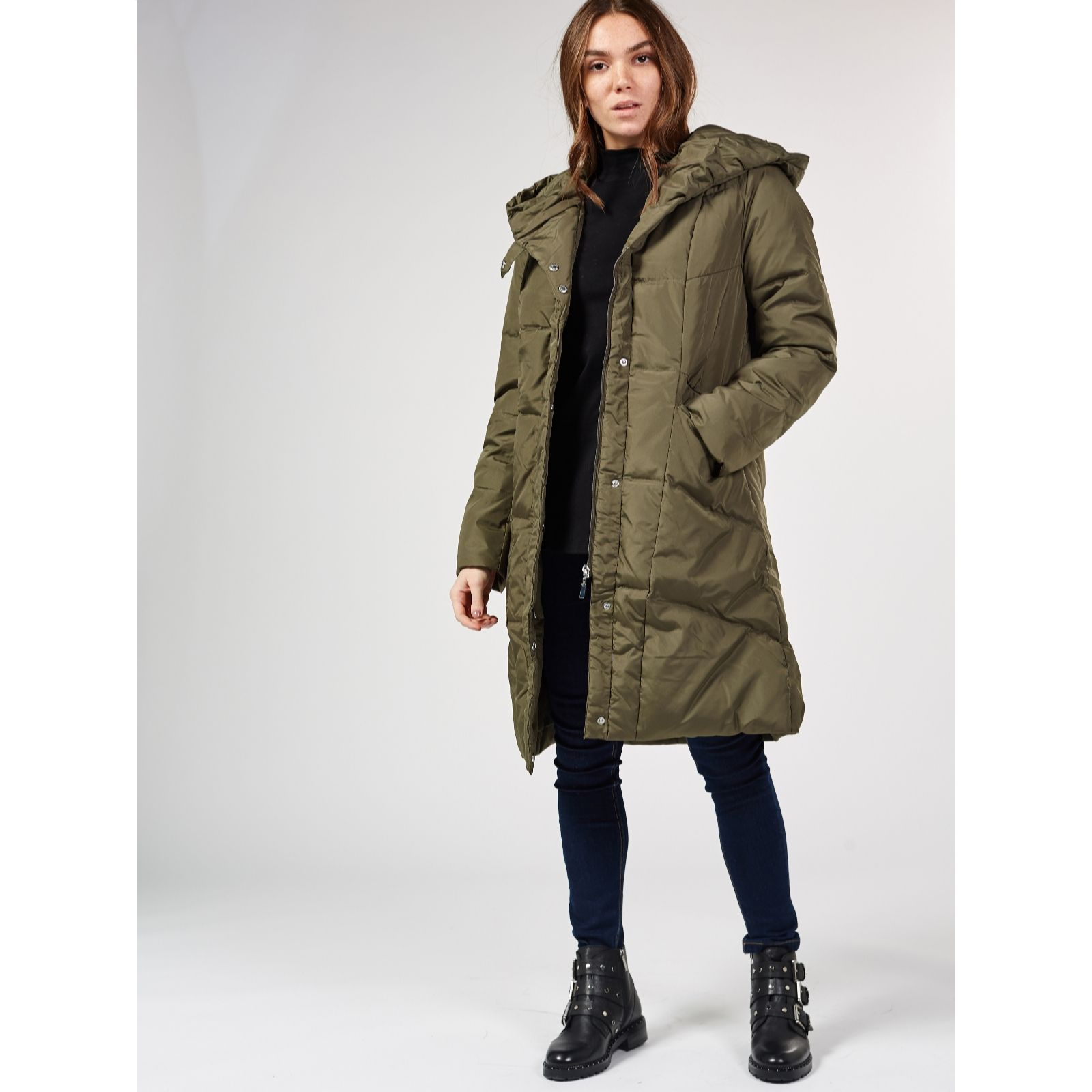 295cbc77c3d Centigrade Machine Washable Feather & Down Hooded Coat - Page 1 - QVC UK