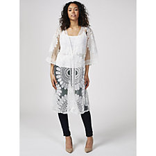 Frank Usher Embroidered Edge to Edge Duster