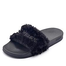 Slydes Faux Fur Slider Flip Flops