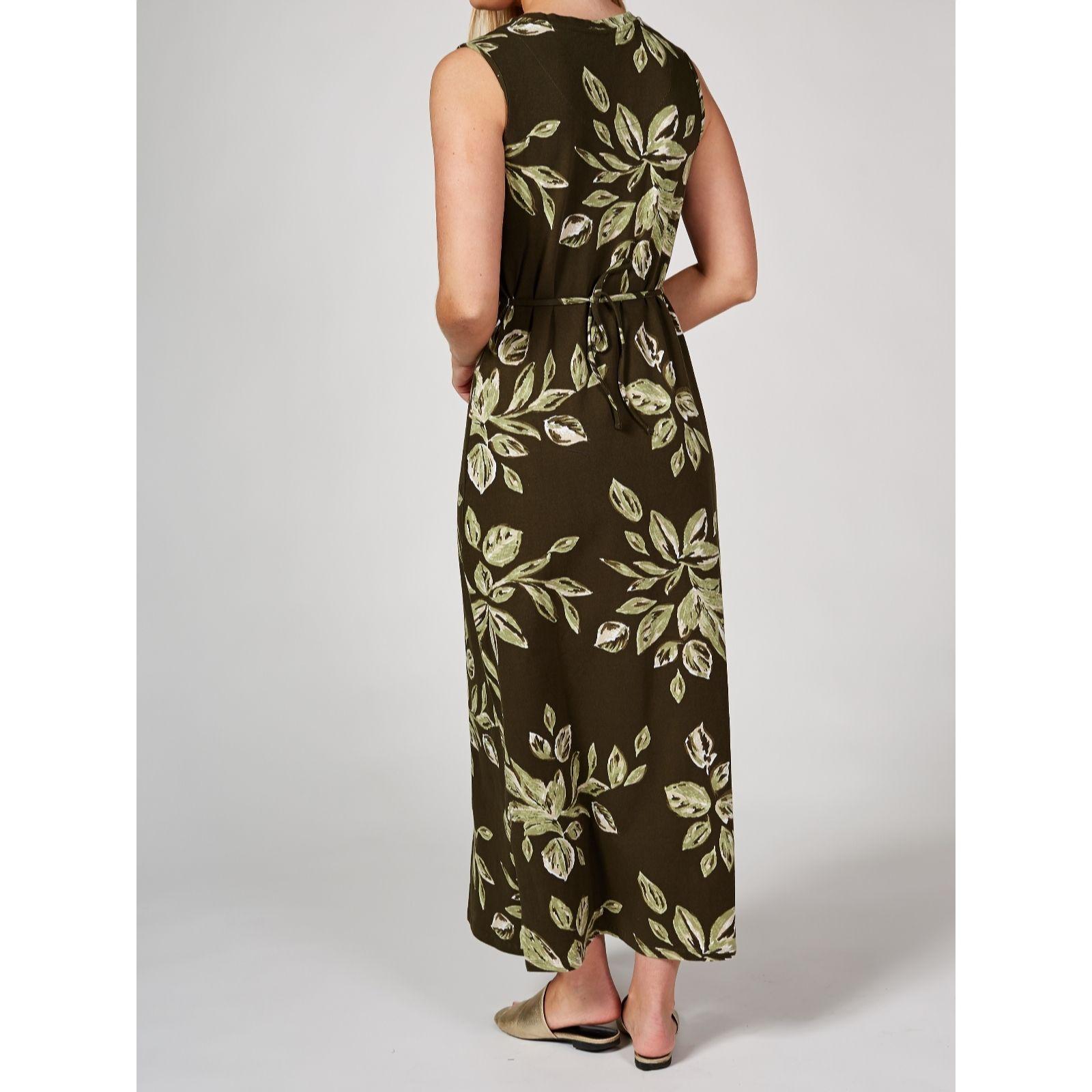 ca66970bc39be Denim & Co. Cotton Jersey Maxi Dress & Waterfall Cardigan Petite - QVC UK