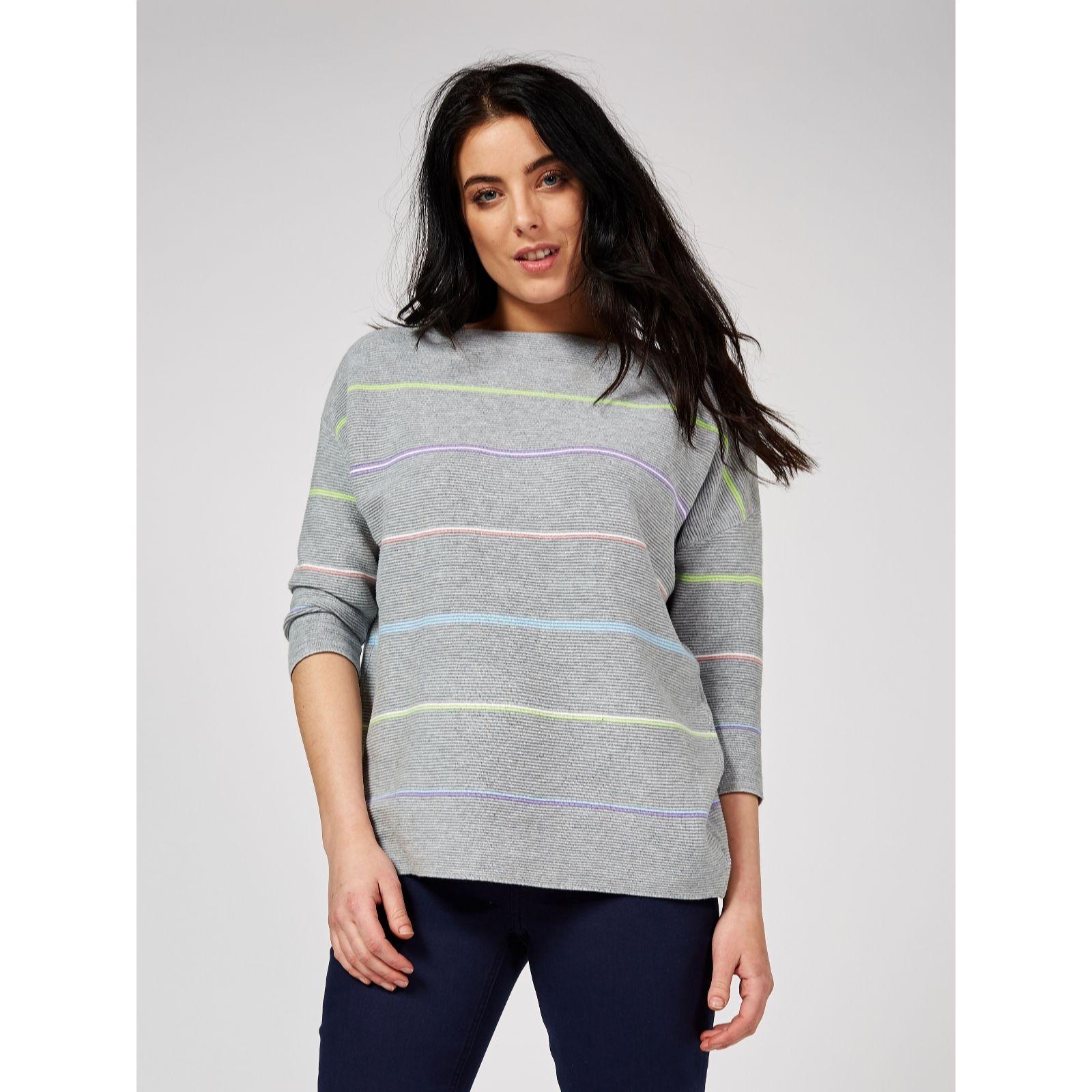 97e057174f6 Phase Eight Piera Rainbow Stripe Knit Jumper - QVC UK