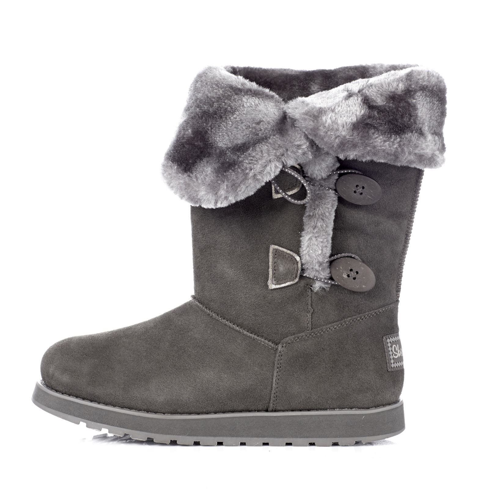 30d5ee7c026e Skechers Keepsakes Appeal Suede Boot with Faux Fur Trim   Memory Foam -  Page 1 - QVC UK