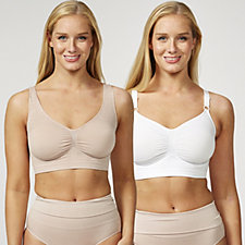 Vercella Vita Medium Control 1 Woven Lace & 1 Plain Bras Pack of 2
