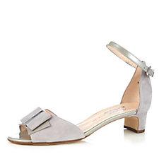 Peter Kaiser Elea Suede Low Heel Sandal with Metal Detail