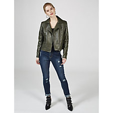 Rino & Pelle Faux Leather Stud Detail Biker Jacket