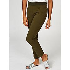 High Tech Crepe Regular Trousers with Side Pocket by Nina Leonard