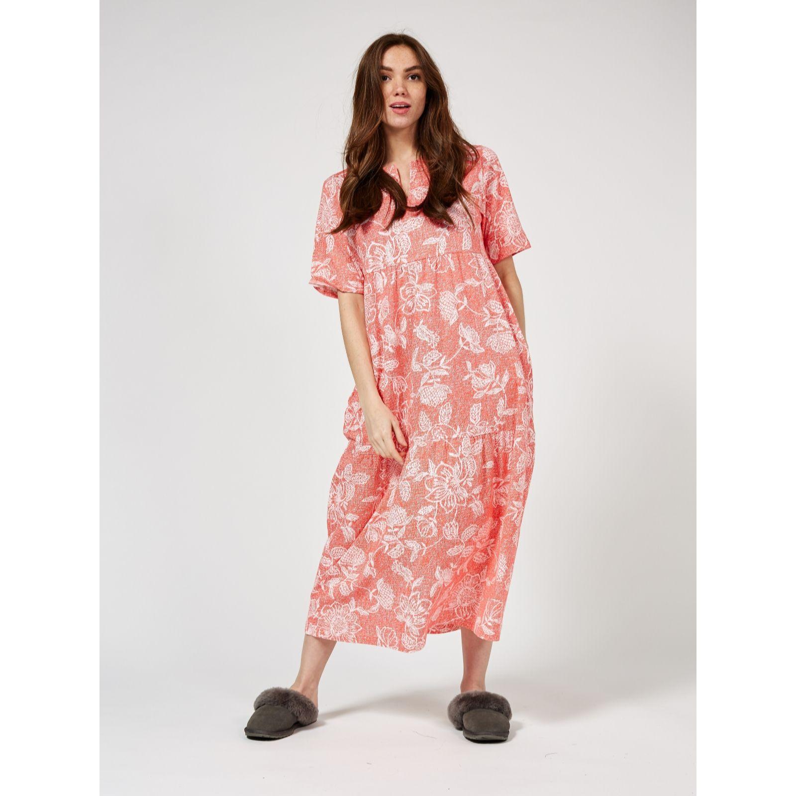 0a878b5d3d Carole Hochman Stamped Floral Cotton Nightdress - QVC UK