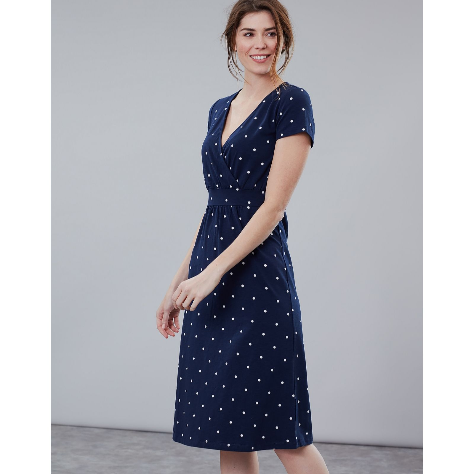 623b33a051 Joules Jude Jersey Wrap Dress - QVC UK