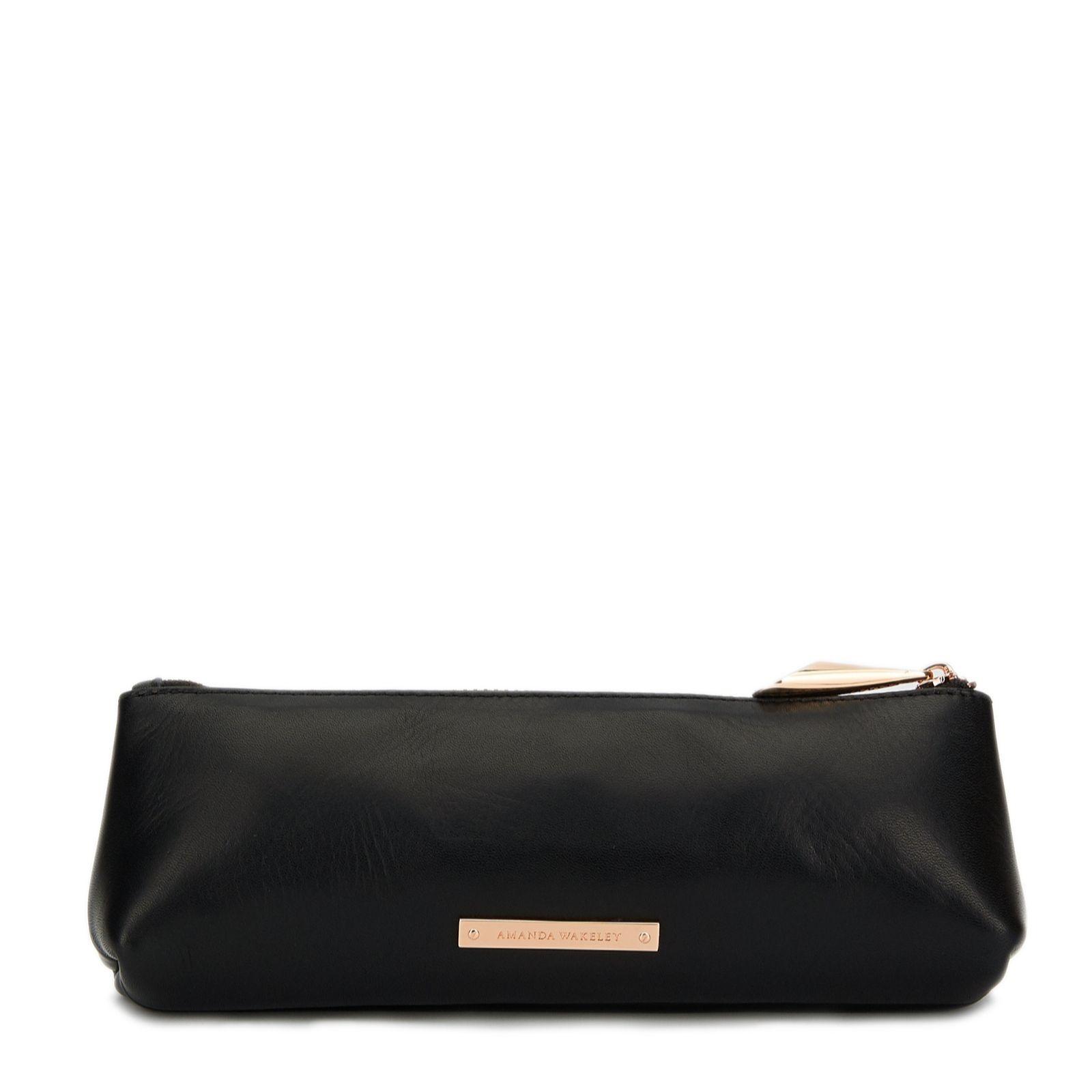 Amanda Wakeley The Mercury Medium Leather Metallic Cosmetics Bag - Page 1 -  QVC UK 53c1b7147d6d6