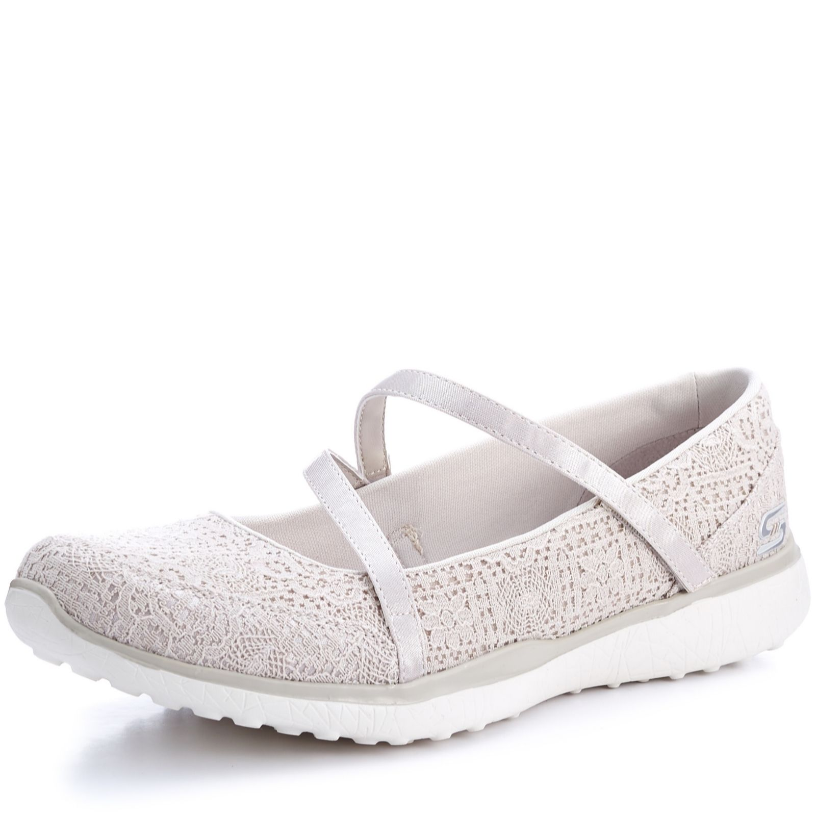 Skechers Microburst Pure Elegance Crochet Mary Jane Shoe - QVC UK bbeeab58d714