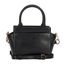 Amanda Wakeley Mini Sutherland Leather Grab Bag with Crossbody Strap