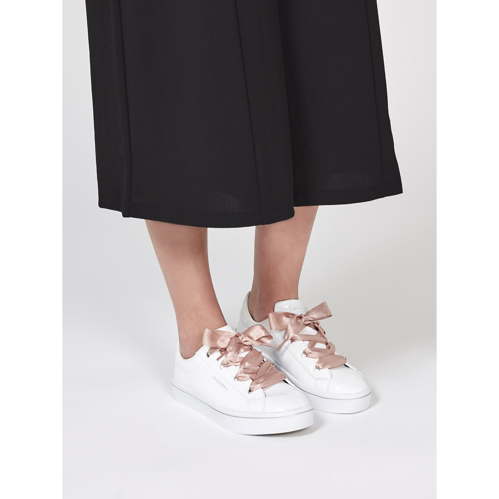 Skechers Hi Lite Patent Fat Lace Sneaker QVC UK