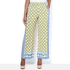 C. Wonder Printed Full Length Petite Trousers