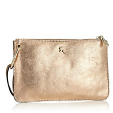 Ashwood Mini Leather Crossbody Bag with Metal Ring Detail