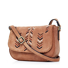 Amanda Lamb Suede Leather Saddle Bag