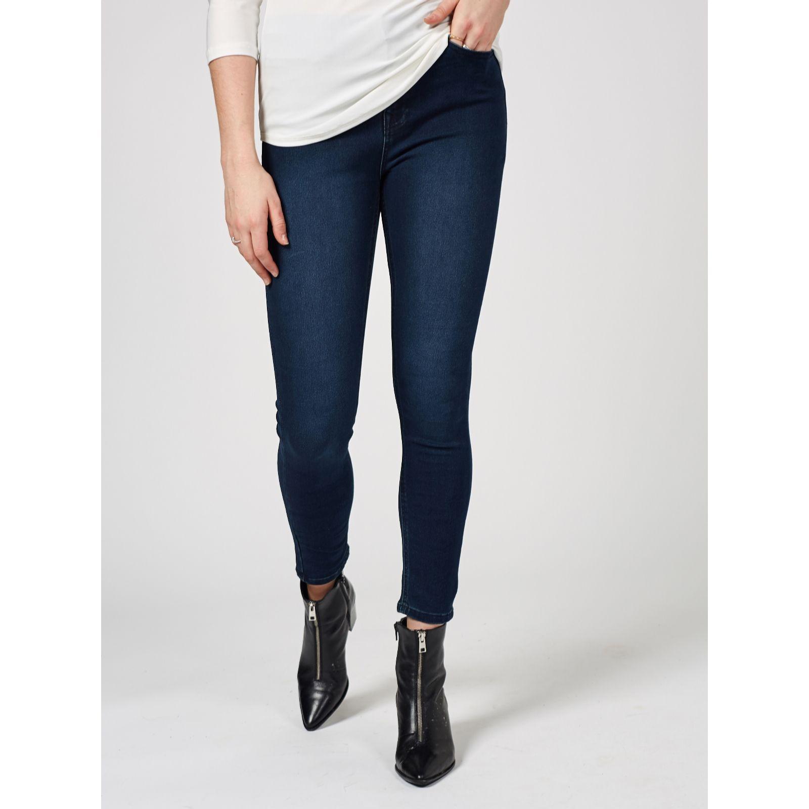 f7067592086 Diane Gilman Skinny Jeans Functional Zip - QVC UK