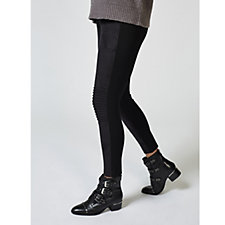 H by Halston Faux Suede Moto Leggings Regular