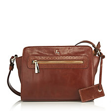 Ashwood Leather Square Crossbody Bag with Zip Detail