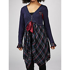 Joe Browns Check Me Out Tie Tunic
