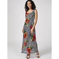 Ronni Nicole Printed Lace Maxi Dress