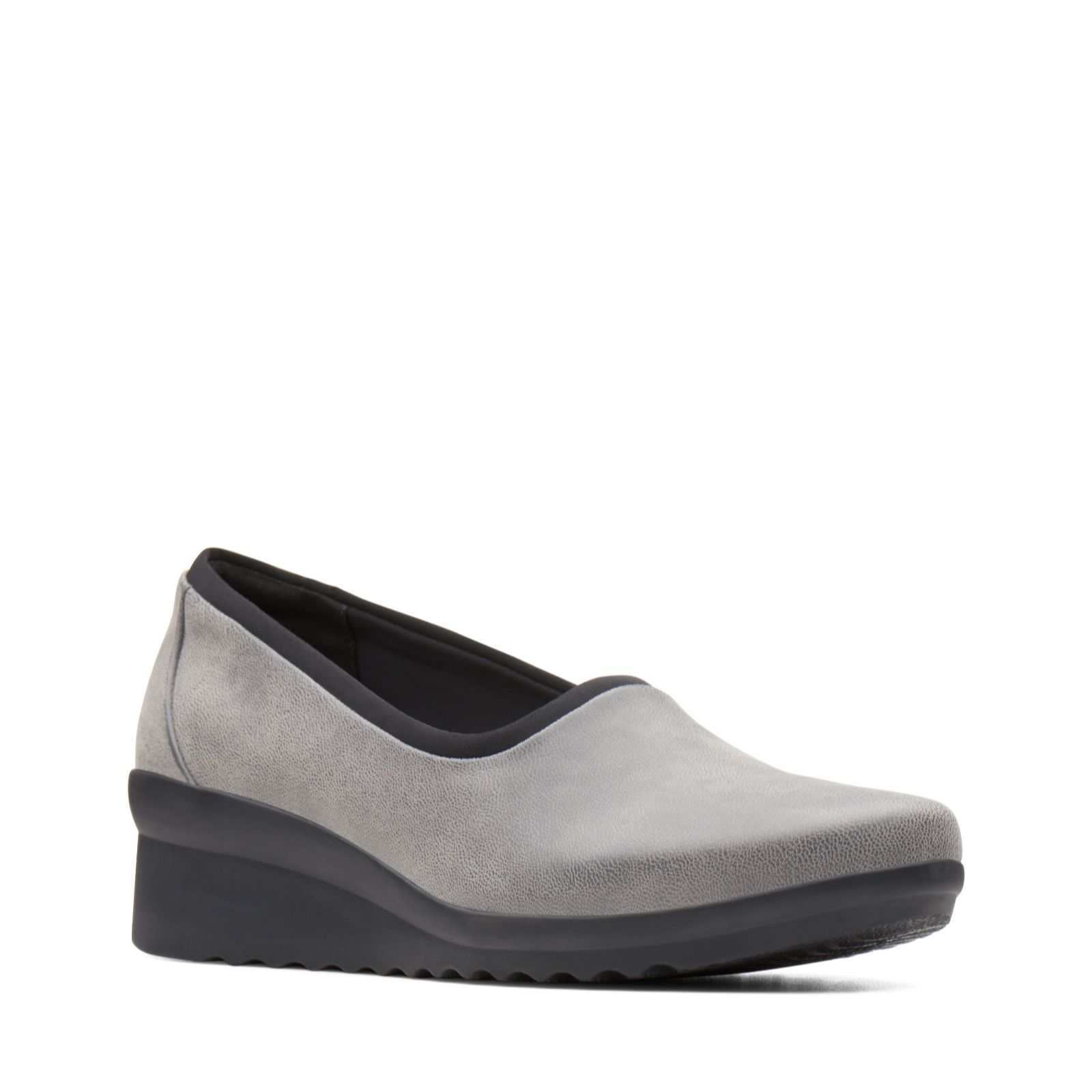 ed094ac8b564 Clarks Caddell Jaylin Synthetic Wedge Shoe Standard Fit - QVC UK