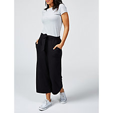 Anybody Tie Front Wide Leg Cropped Trousers