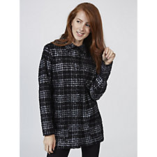 Tweed Foil Print Boucle Shirt by Michele Hope