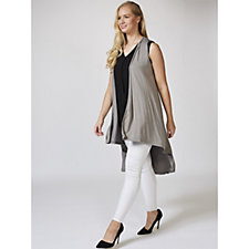 Join Clothes Sleeveless Jersey Dip Back Duster