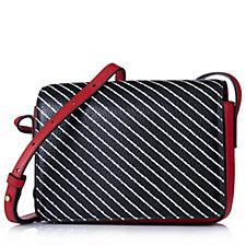 Lulu Guinness Rene Stripe Leather Crossbody Bag