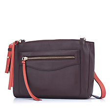 Amanda Lamb Two Tone Small Leather Multi Compartment Bag