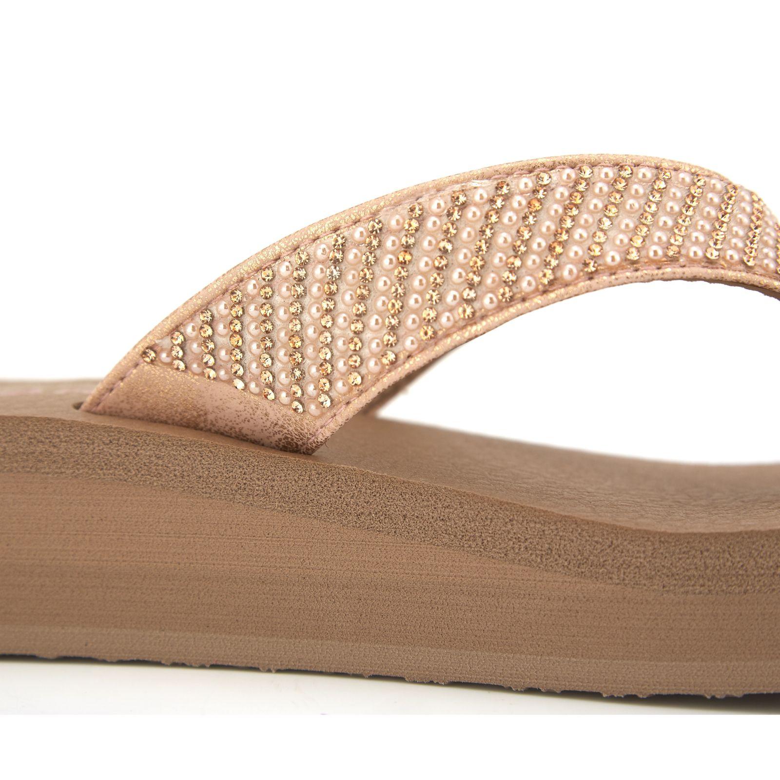 bd7b81eb808 Skechers Vinyasa Pearl   Rhinestone Toe Post Sandal with Yoga Foam - QVC UK