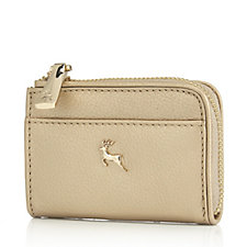 Ashwood Small Leather Zip Wallet in Gift Box
