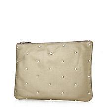 Ashwood Leather Stud Clutch Bag