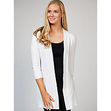 Ronni Nicole 3/4 Sleeve Open Front Cardigan