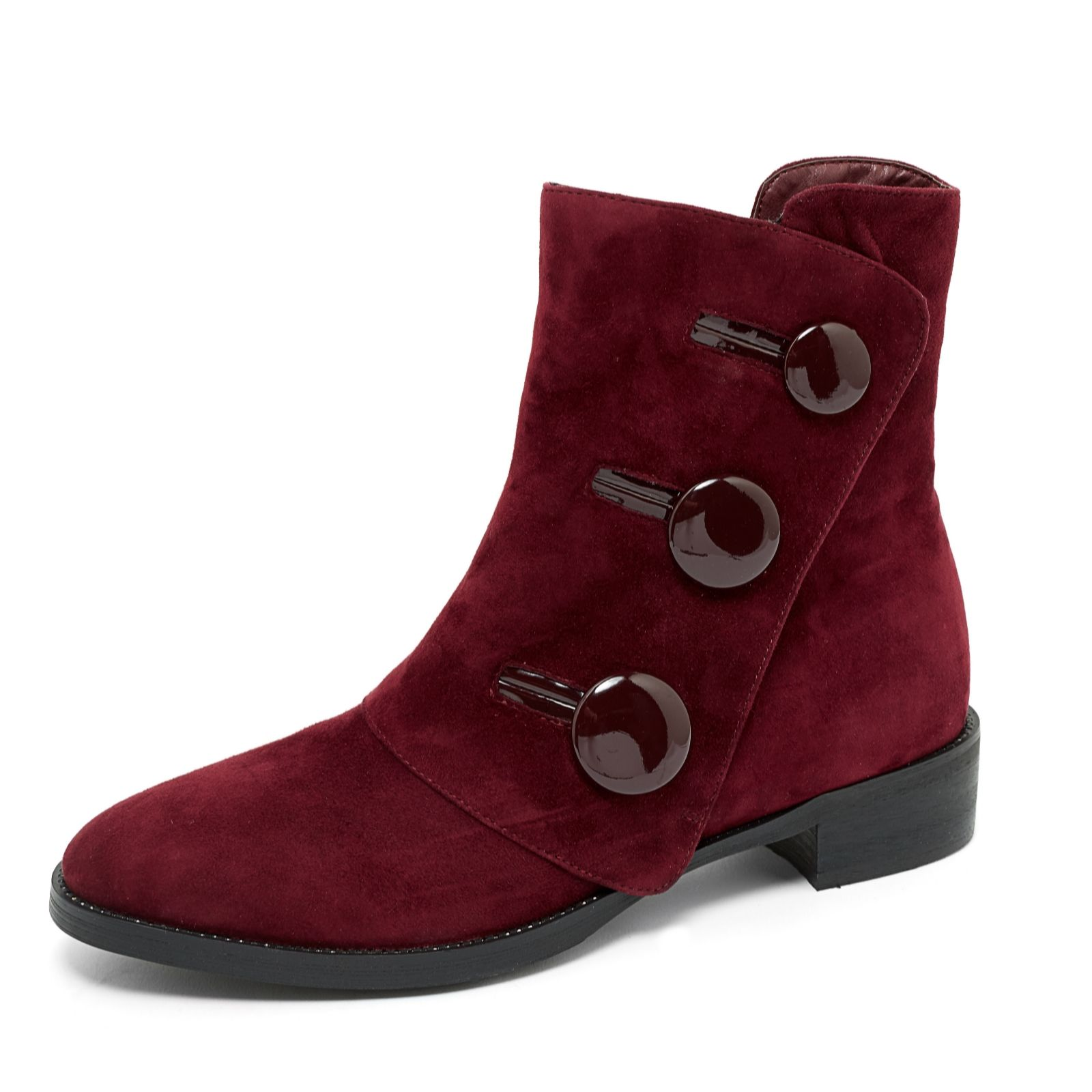 47cfed593 Moda in Pelle Lizette Button Ankle Boot - QVC UK